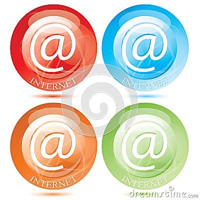 Vector internet E-Mail Button / symbol set