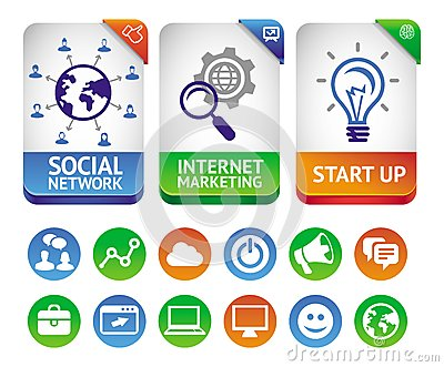 Vector internet marketing labels