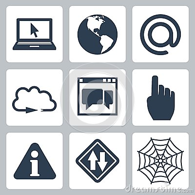 Vector internet-related icons set
