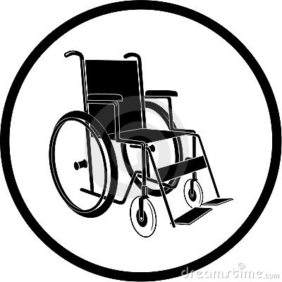 Vector invalid chair icon