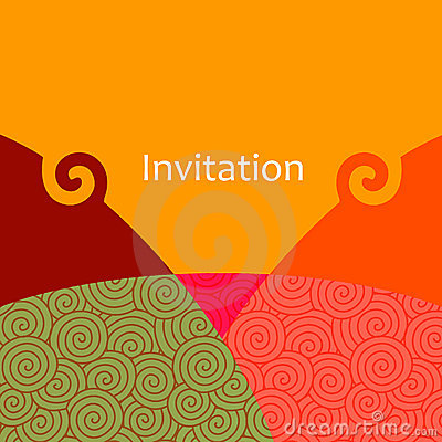 Free Vector Invitation Card Royalty Free Stock Photography - 9564627