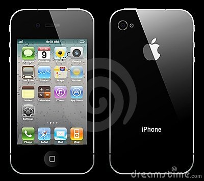 Vector iphone 4 Editorial Stock Photo