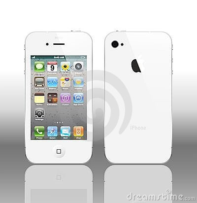 Free Vector Iphone 4 White Royalty Free Stock Photo - 17137935