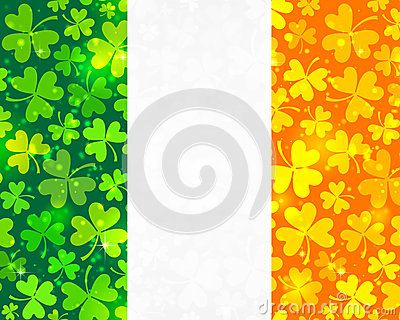Vector Irish flag background