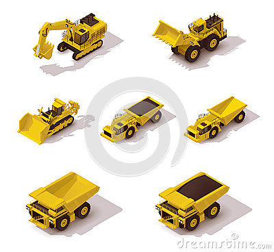 Free Vector Isometric Mining Machinery Set Royalty Free Stock Photo - 55368795