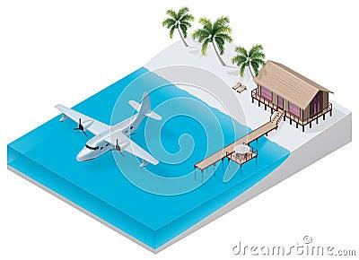 Vector isometric tropical resort