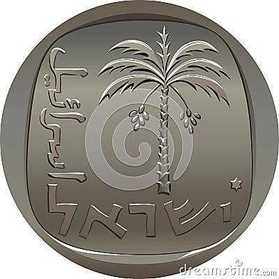 Vector Israeli agora coin