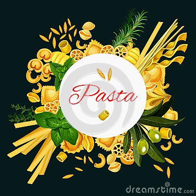 Free Vector Italian Pasta Cuisine Poster Royalty Free Stock Image - 115098256