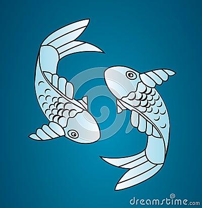 Vector japan fish