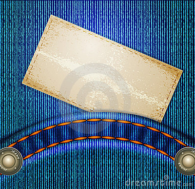 Vector jeans background with quilted pockets