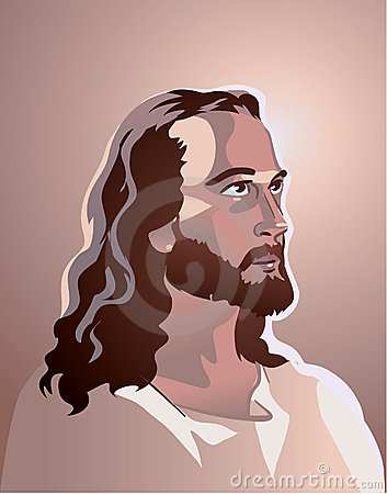 Vector Jesus Christ portrait