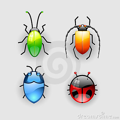 Free Vector Jewel Bugs Royalty Free Stock Images - 5695209