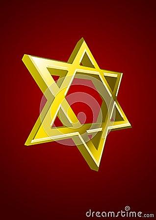 Vector Jewish star