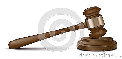 Vector judge gavel