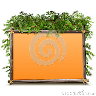 Free Vector Jungle Frame Royalty Free Stock Images - 56453019