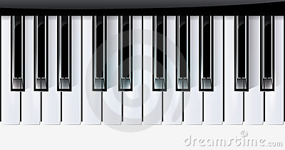 Vector keys piano music instrument. eps10