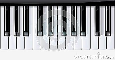 Vector keys piano music instrument. eps10