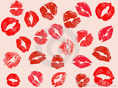 Vector kiss background