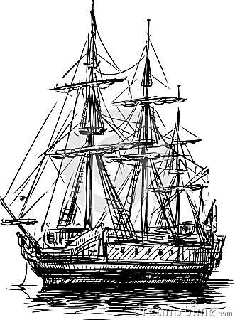 Barca a vela antica