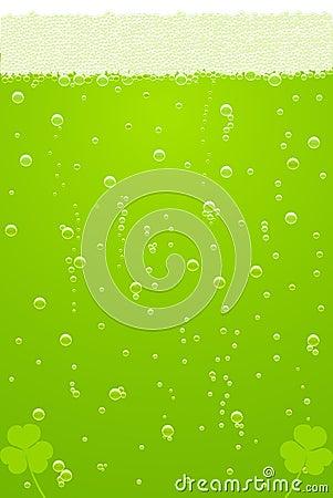 Vector la textura verde de la cerveza para el día del St. Patricks