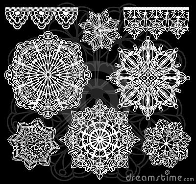 Free Vector Lace Stock Images - 13600104