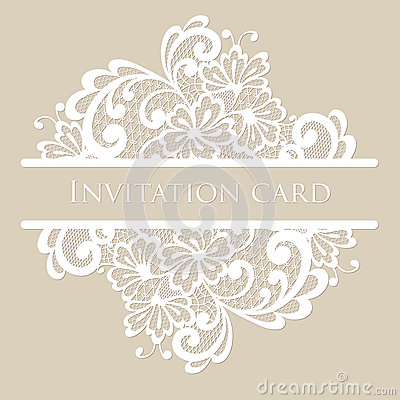 Vector lace card Vector Illustration