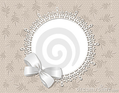 Vector lace picture frame