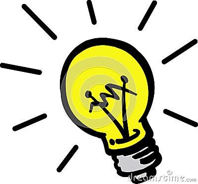 Vector lamp bulb