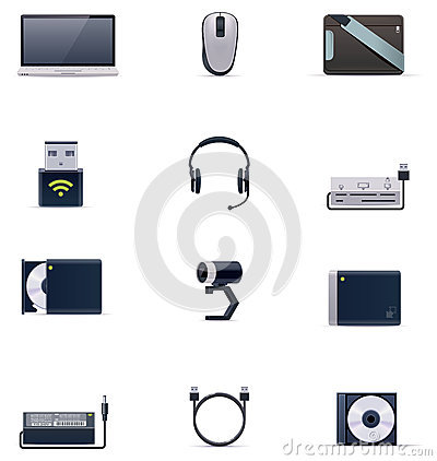 Free Vector Laptop Accessories Icon Set Stock Images - 28679814