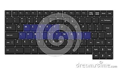 Vector laptop keyboard