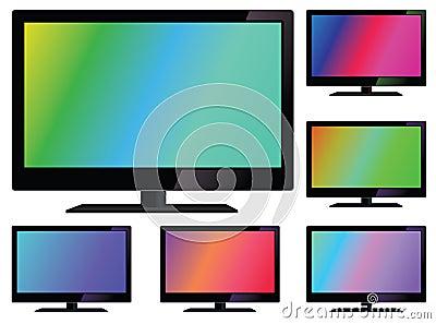 Vector lcd tv
