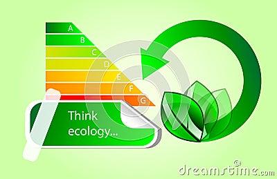 Vector le icone di eco di energia