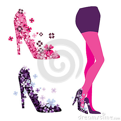 Vector of the legs, shoes