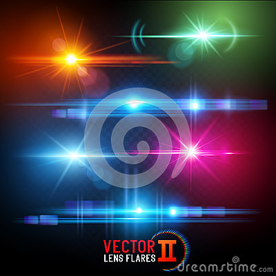 Free Vector Lens Flare Effects Stock Image - 58484611