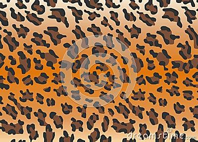 Vector leopard skin