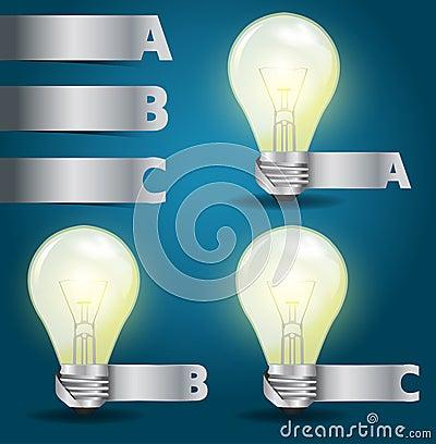 Vector light bulb idea, with modern template desig