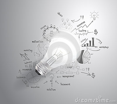 Free Vector Light Bulb With Drawing Business Success St Stock Photos - 36267613