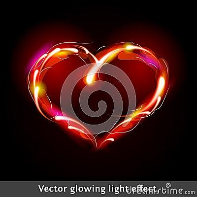 Vector light effect heart