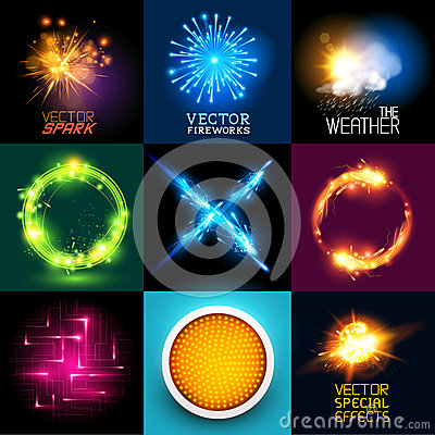 Free Vector Light Effects Collection Royalty Free Stock Image - 40438656