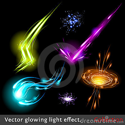 Free Vector Light Effects Set Royalty Free Stock Image - 22785196