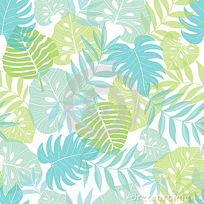 Free Vector Light Tropical Leaves Summer Hawaiian Seamless Pattern With Tropical Green Plants And Leaves On Navy Blue Royalty Free Stock Photos - 95220398