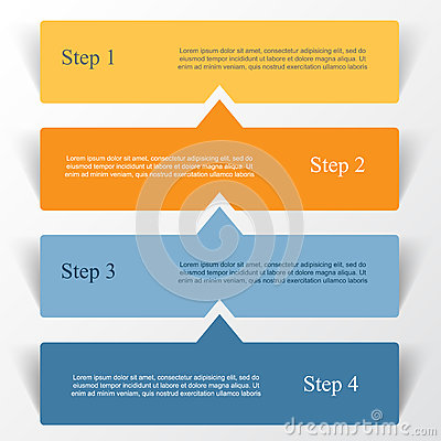 Vector lines arrows infographic. Vector Illustration