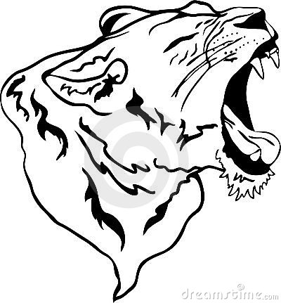 vector lion roaring