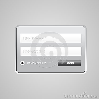 Vector login form template
