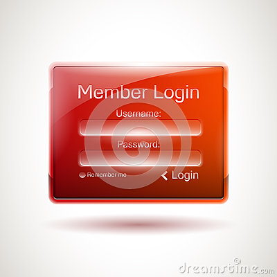 Vector login window