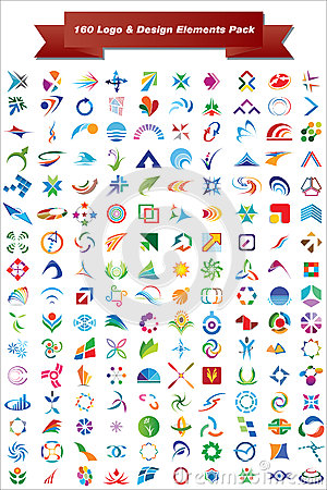 Free Vector Logo & Design Elements Pack Royalty Free Stock Images - 25136469
