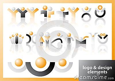 Vector logo & design symbols