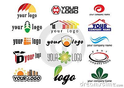 Vector logo elements