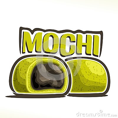 Free Vector Logo For Japanese Dessert Mochi Royalty Free Stock Photography - 104665327