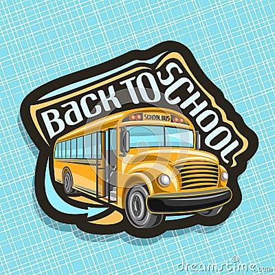 Free Vector Logo For School Bus Stock Image - 118623691